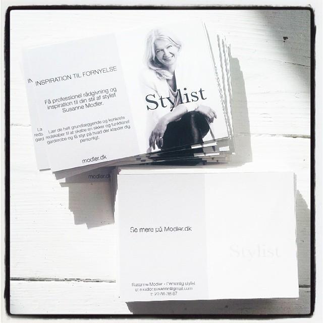250 stk #reklamepostkort til efterårets events. #goodjob @zakkatography #modlerdk #stylist #godstil