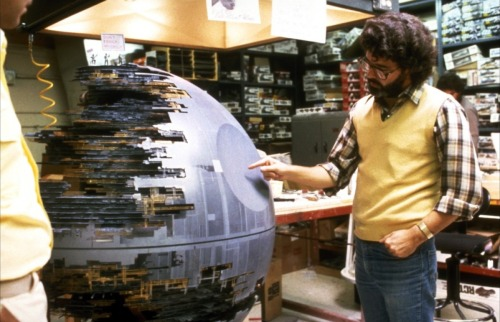 George Lucas behind the scenes on Star Wars: Episode VI: Return of the Jedi (1983)