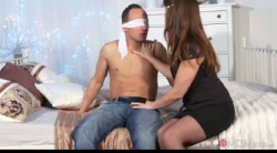MomXXX Blindfolded husband tied up by wife Caroline Ardolino 1080p mp4