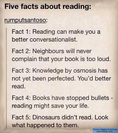Five facts about reading
