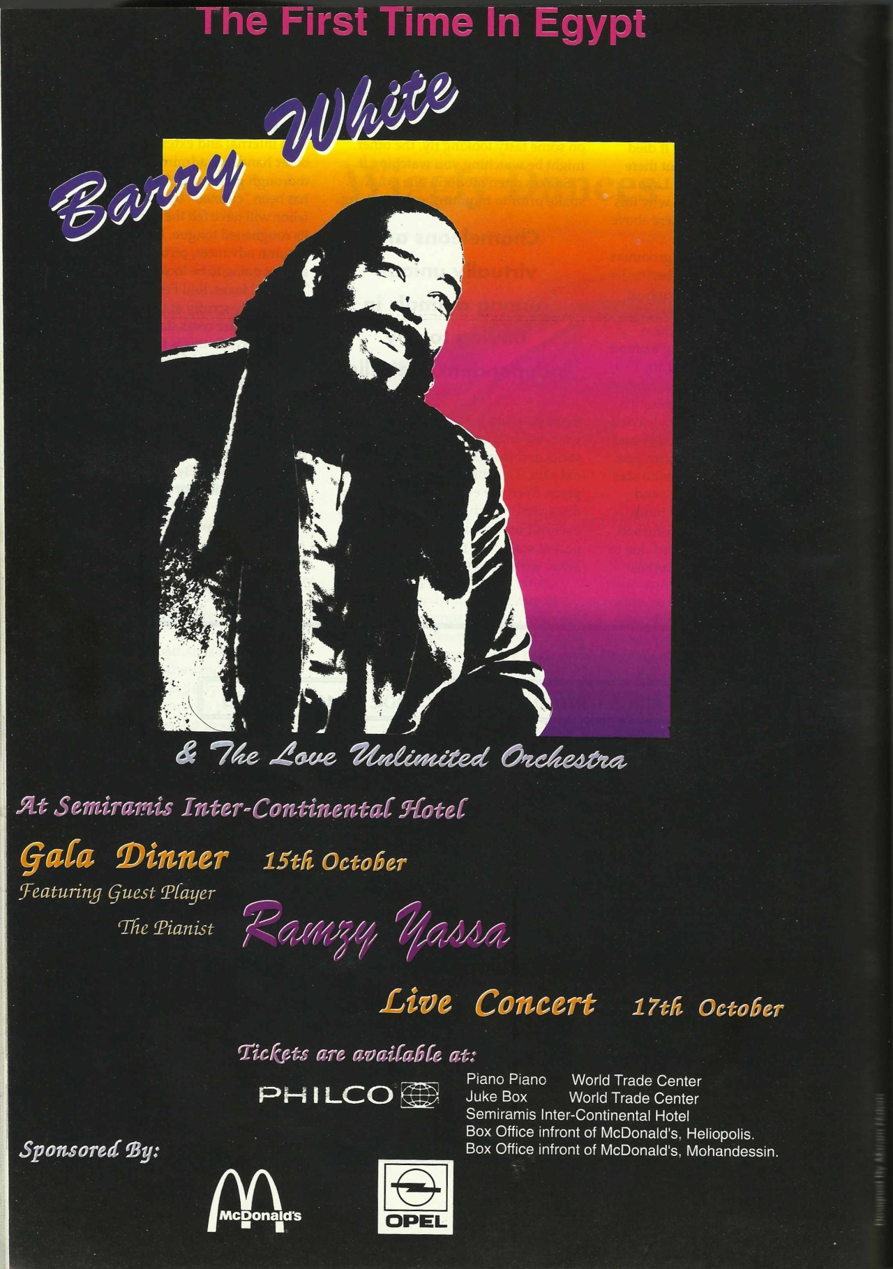 Barry White live in Egypt '94