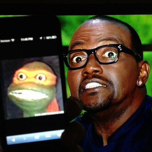 Look-alikes: TMNT Michelangelo vs. American Idol Judge Randy Jackson (via:celebzaredum)