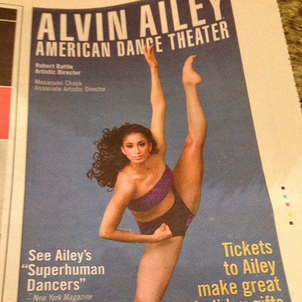 Excited about the Alvin Ailey show tomorrow night!! #dance #theater #ailey #2012 #newyorkcity #nyc #art #cheers