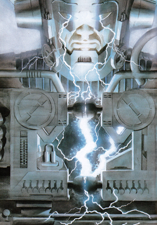 jthenr-comics-vault:  Galactus Using His Energy Converter by Alex Ross