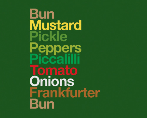 fer1972:  Typo Sandwiches by David Schwen  1. Sanswich 2. Chicago Dog 3. Taco 4. BLT 5. Grilled Cheese 6. Cubano
