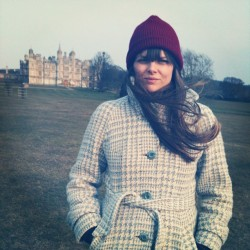At Burghley House. More like Brrrr-ley House. (Ba-dum-shh!)