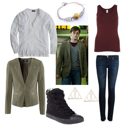 How to dress like your favorite Harry Potter characters! This is the Harry outfit and you can find eight more at Gurl!