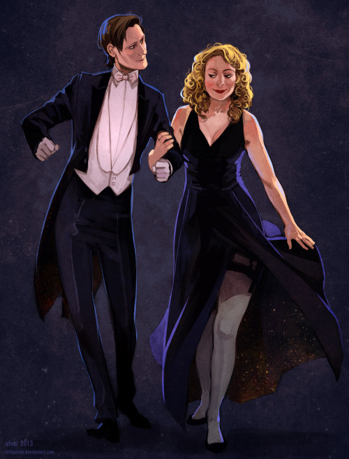 shadedareas:  becks28nz:  the timelords by *littleulvar  This is gorgeous work. I especially love the gold speckling inside the dress.