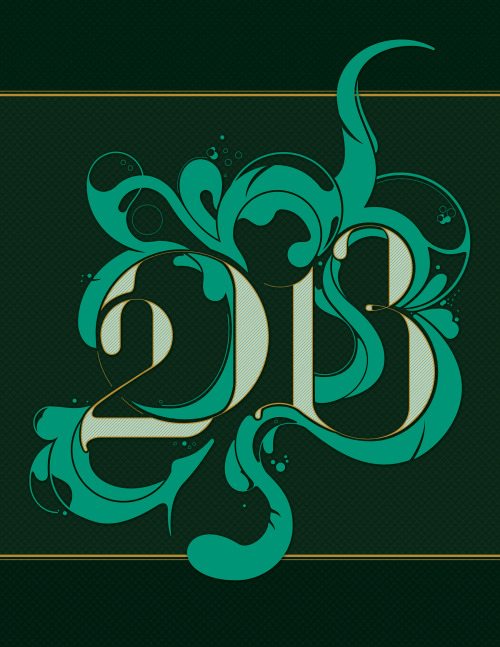 designersof:  2013. Year of the Water Snake. Color of the year: Emerald.