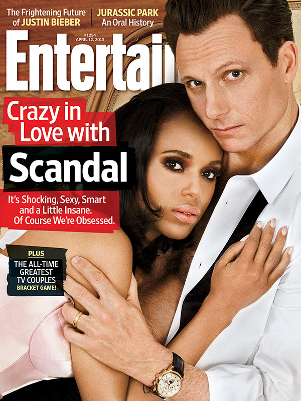 entertainmentweekly:  This week in EW: The crazy, beautiful, crazy/beautiful world of Scandal.  Reblogged for lovely Kerry Washington (whom I still really like even though the show got too crazy for me/I watch Elementary instead)