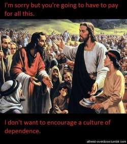 Republican Jesus on food stamps