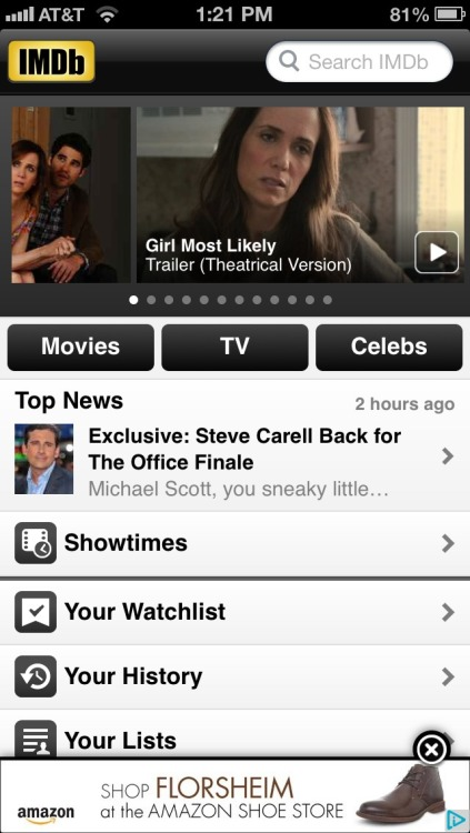 Front page on IMDB! Hooray! July 19th will be considered a holiday for me!
