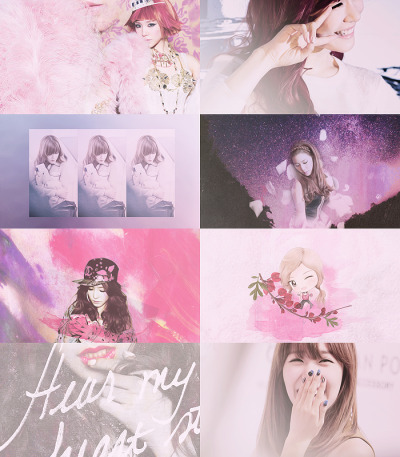 ssicabarbie:  colormeme tiffany + pink/light purple