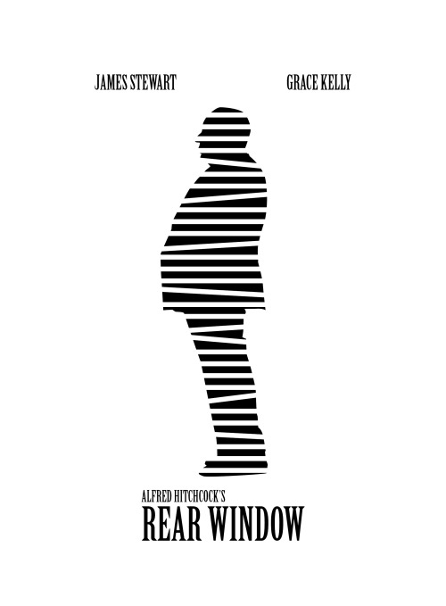 Tribute To Hitchcock: Rear Window alternative movie poster designed by Linda Hordijk.