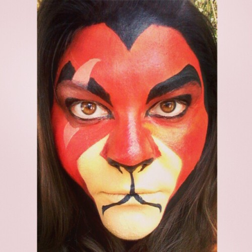 #Scar test run. #lionking #Disney #facepaint