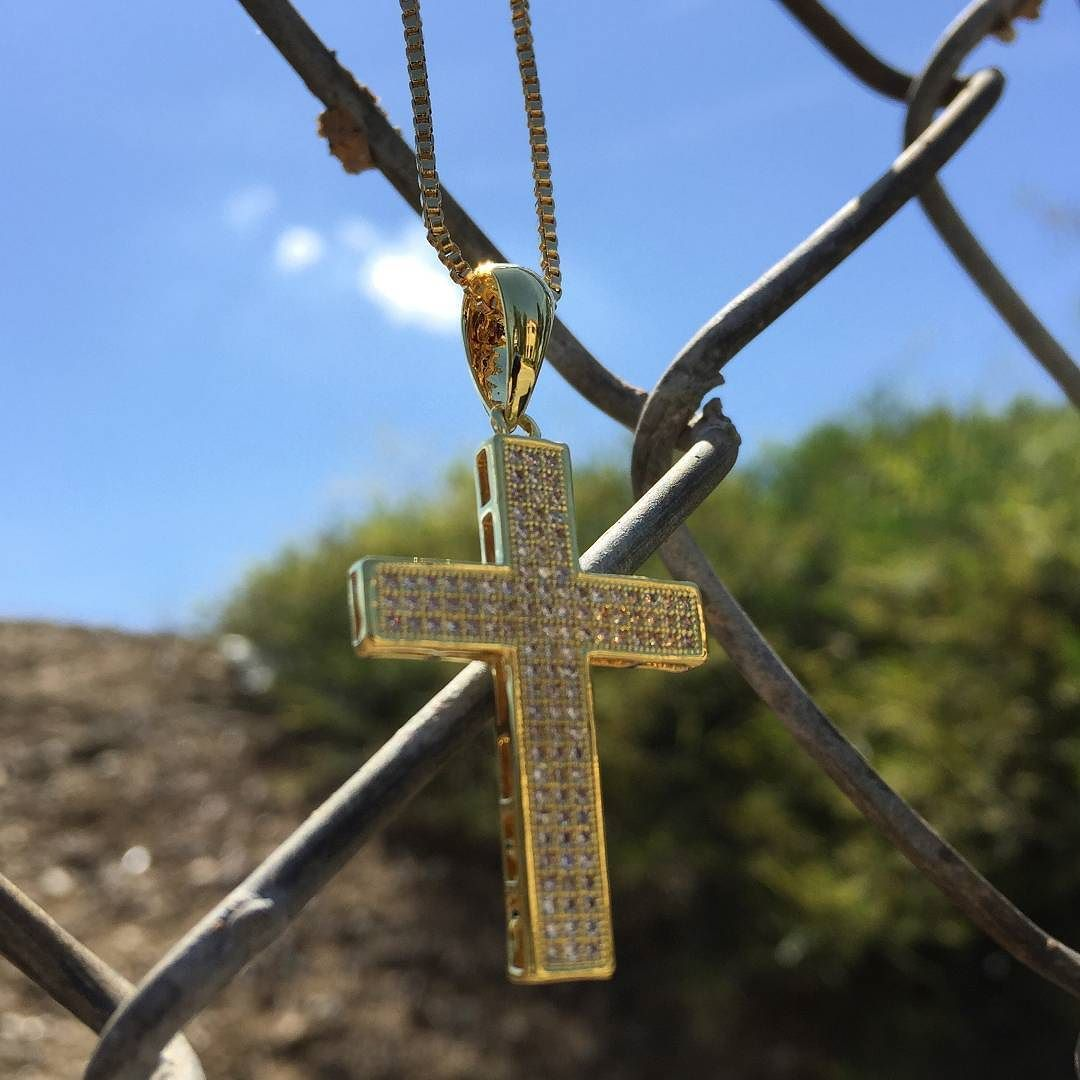 Contemporary 14K Gold Latin Cross Necklace by King Ice : Save 25% off orders when using code at check out: KING25 via Instagram http://ift.tt/1r7P2dC