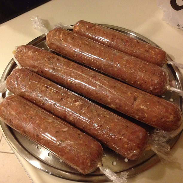 #sausage in the making @mercylove @marsleung0213