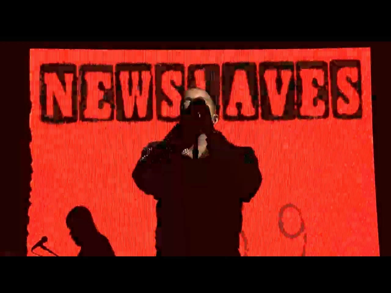 Kanye west video art screen shots from SNL