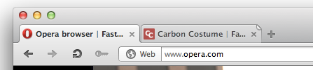 Opera - Tabs that haven't been viewed yet are indicated by a folded corner. /via Thomas Park
