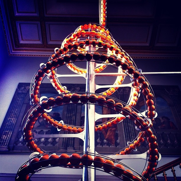 #instagram #london #vanda #museum #art #sculpture #circle #curve #orange #food