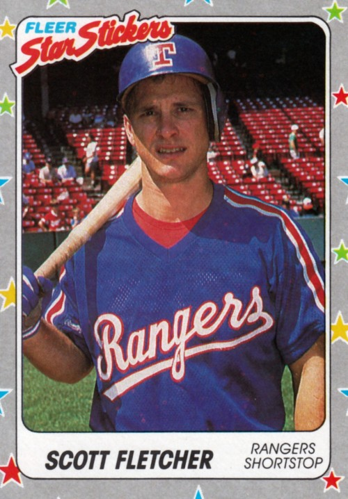Random Baseball Card #2241: Scott Fletcher, shortstop, Texas Rangers, 1988, Fleer.