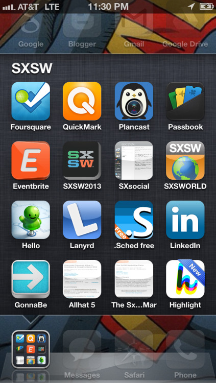 My SXSW event apps