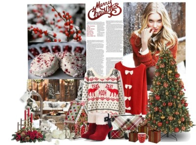 "Christmas is coming! by a-polyvore-girl featuring vivienne westwood ❤ liked on PolyvoreChristmas sweater / Bow sweater / High heels / Vivienne Westwood , $510 / Balsam Spruce Artificial Christmas Tree - Treetopia / Red Berries and Snow - 8x10 Photograph - Scarlet & White Winter Fine… / Build Your Own - Palmetto All-Weather Wicker Sectional Components -… / RAZ 13"" Gingerbread Candy House / RAZ Merry Christmas Sign / Merry Christmas Crush Mug, $4.76 / Glory Gift Boxes Set of 3"