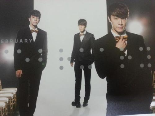 Donghae on Super Junior's 2013 calendar. February~