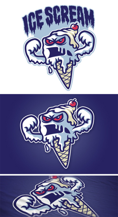 Ice Scream logoA logo design for a group of gamers based in the U.S. and Canada