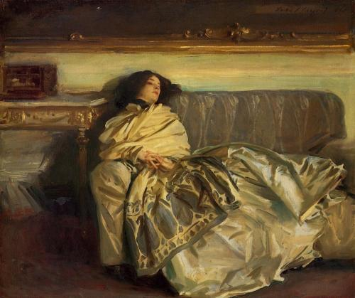 Repose, Artist: Sargent, oil painting