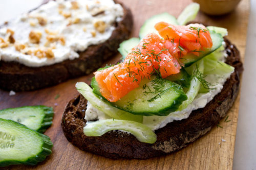 Goat Cheese and Cucumber Sandwich (via NYTimes.com)