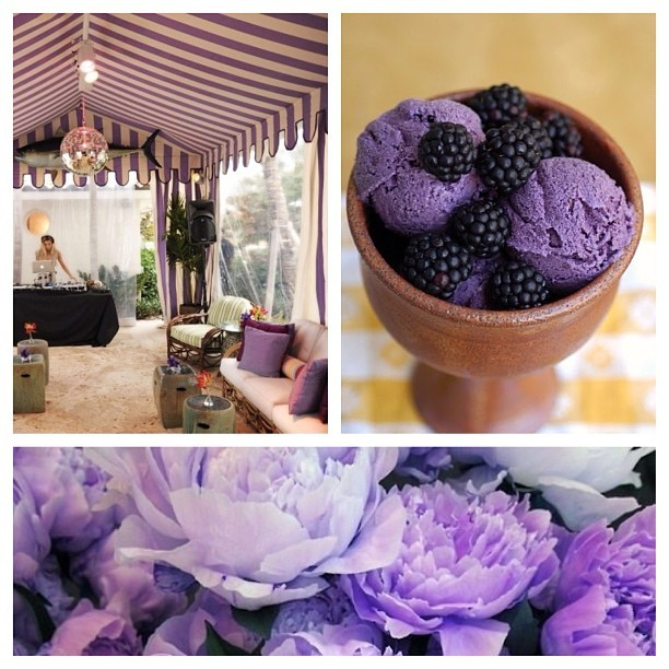 "Every soirée should have a theme. Love this ""Lavender Loving"" beach soirée! #party #beach #life #vogue"