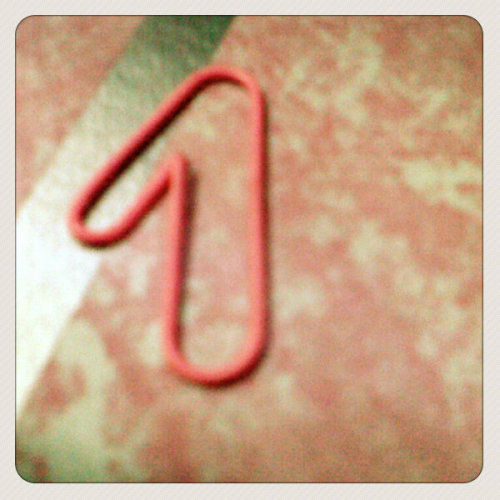 one from deformed paper clip (Photo taken and uploaded via MOLOME )