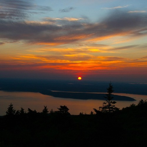 Sunrise from Cadillac Mountain, Acadia National Park, #Maine #travel #NPS