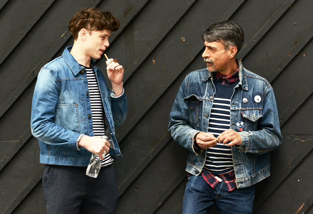 Denim Jackets and striped tees Via Tommy Ton from GQ