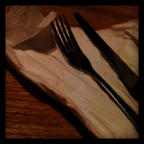 #photoadayfebruary #day1 #fmsphotoaday fork #fork #applebees #birthdaydinner