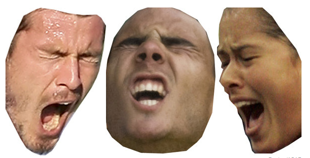 "are these: a. O faces b. victory faces c. ""I just lost"" faces, or d. a and b?"