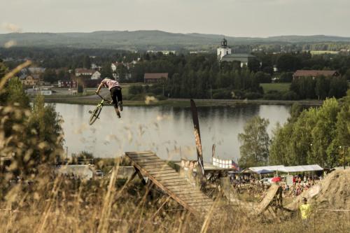 Favourite photo form slopefest 2014 Alfta bike park, Tailwhip off the boner. Rider Marc Lundin