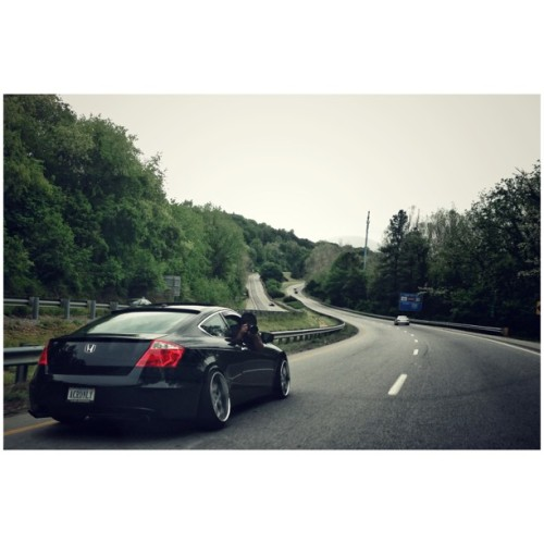 sebastianmarinphoto:  Rolling shot heaven on the backroads of Georgia, I gotta see these shots @ohhellochris  @dj3w3 #accord  Almost home from #sowo #sowo2013  #hellaflush #onicamber #bags @bagriders #bagriders #honda #rolling