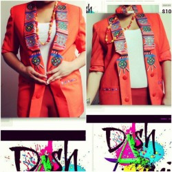 DASHA'VERI sends this hand painted tribal print blazer to Huntsville, Texas! #thriftstorejunkie #thrifted #thriftstore #tribal #African #design #handpainted #DashAveri #Gaptoothdiva #fyourstyle #curvy #style #fatshion #fashion #redesigned #upcycle #plussize #spring #2013 #vintage #shoplocal #online #diyfashion  (at DASHA'VERI Vintage & Thrifted Redesigns)