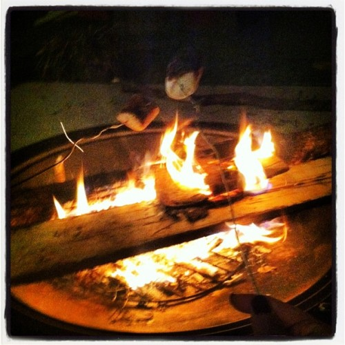 #roasting #marshmellows #fire #cold #yummy #bffs