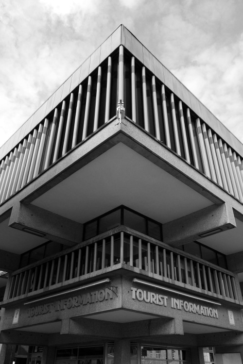scavengedluxury:  Assembly Rooms. Derby, March 2013.  Brutalist venues that Joy Division played at, part 1.