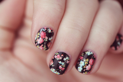 heisphenomeniall:  Floral Funny Nails Inspiring Picture On Favim Com We Heart It - kootation.com on We Heart It - http://weheartit.com/entry/60181724/via/Isingbutnotdance Hearted from: http://kootation.com/floral-funny-nails-inspiring-picture-on-favim-com-we-heart-it/data.whicdn.com*images*32384327*cute-fashion-floral-funny-nails-Favim.com-457110_large.jpg/