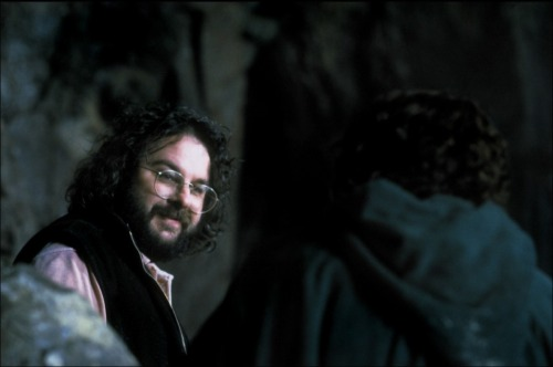 Peter Jackson on-set of The Lord of the Rings: Fellowship of the Rings (2001)