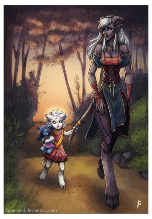 worldof-azeroth:  Commission: The way home by *fadedkind