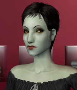 Here is Vicki Vampiress whom still needs to be worked on because for now she looks like a lizard
