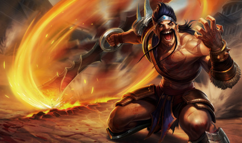 itzjustgamin:  Don't know if these have been posted yet, but… NEW DRAVEN NIDA LEE AND KARMA SKINS  That isn't a new Karma skin, that's her new makeover, everyone who already owns her will get a free skin resembling classic Karma, however.