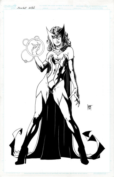 thehappysorceress:  Scarlet Witch by Ken Hunt