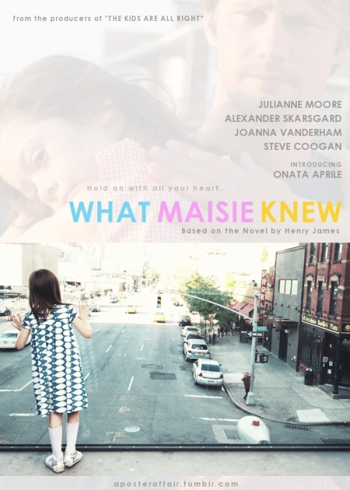 aposteraffair:  What Maisie Knew (2012) Director: Scott McGehee and David Siegel Julianne Moore, Alexander Skarsgard, Onata Aprile