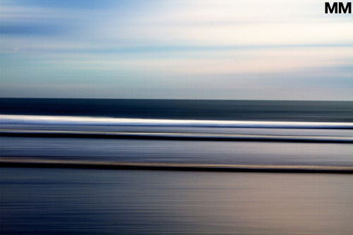 morganmaassen:  Layers of the sea on a brisk winter evening.